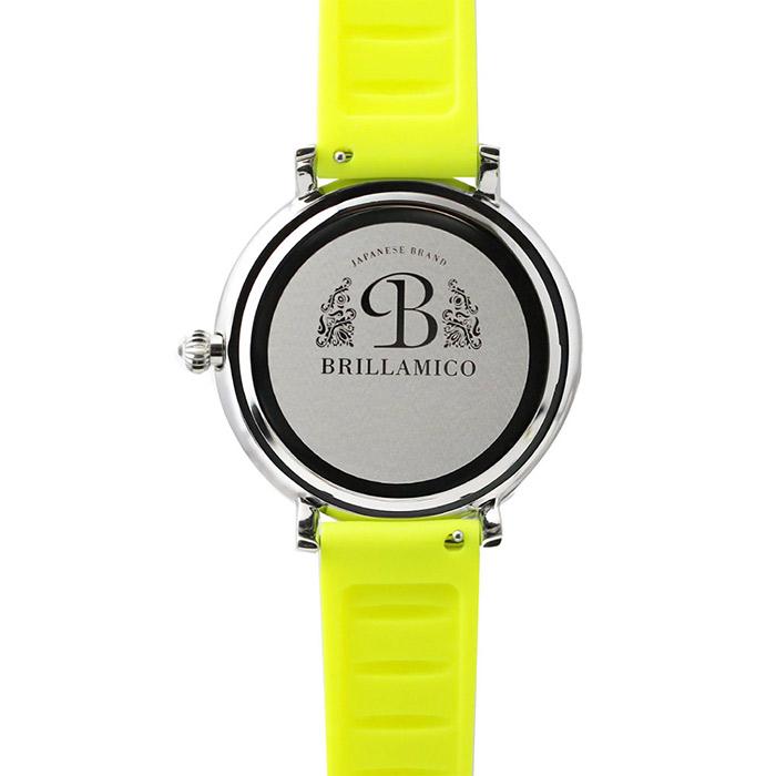 brillamico lily46mm yellow フェイス 裏