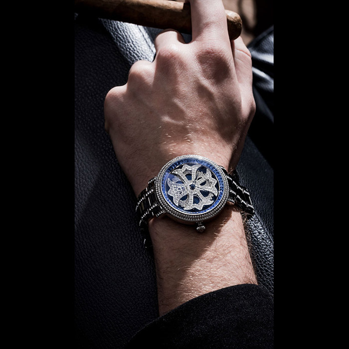 brillamico lilylimited46mm blue-silver 着用イメージ