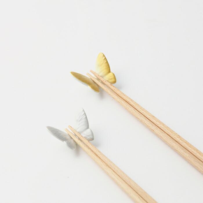 Floydバタフライ箸&箸置きゴールド&シルバー商品イメージ