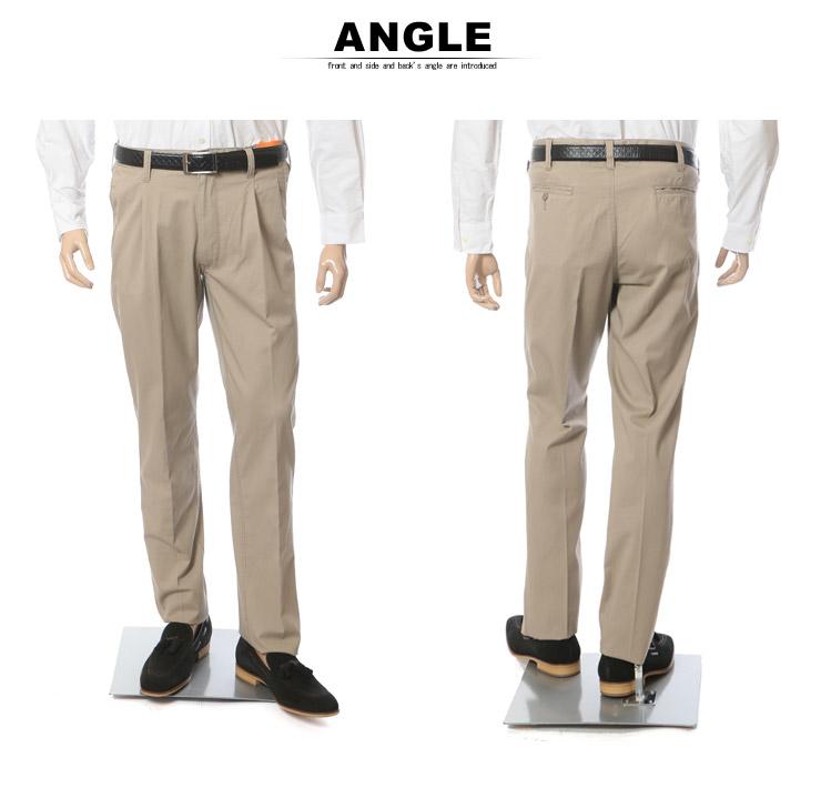 大きいサイズのサカゼン:大きいサイズ メンズ ズボン・チノパンツ・形態安定のオフィスカジュアルパンツ・マネキン着用前後写真7