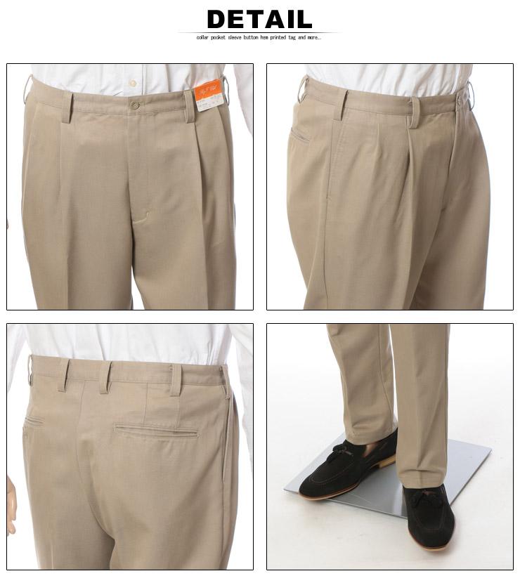 大きいサイズ メンズ ズボン・チノパンツ・形態安定のオフィスカジュアルパンツ・detail詳細部分