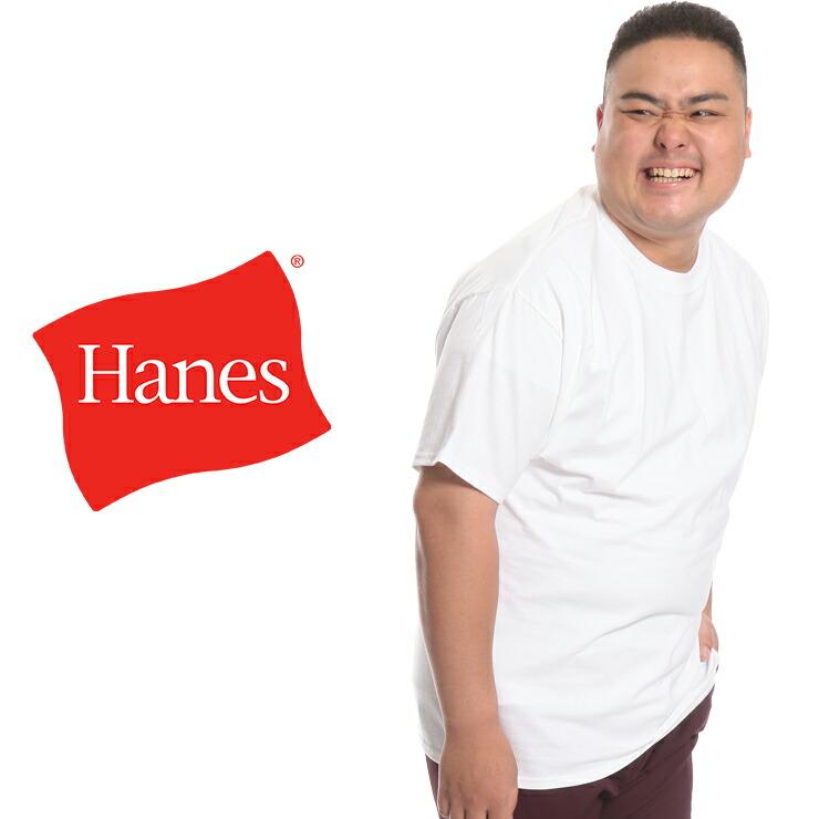 大きいサイズメンズ洋服のサカゼン:大きいサイズ Tシャツ 夏 大きいサイズ メンズ 半袖Tシャツ Hanes (ヘインズ) BEEFY 無地 丸首 半袖 ティーシャツ [XL-5XL]・着用写真2
