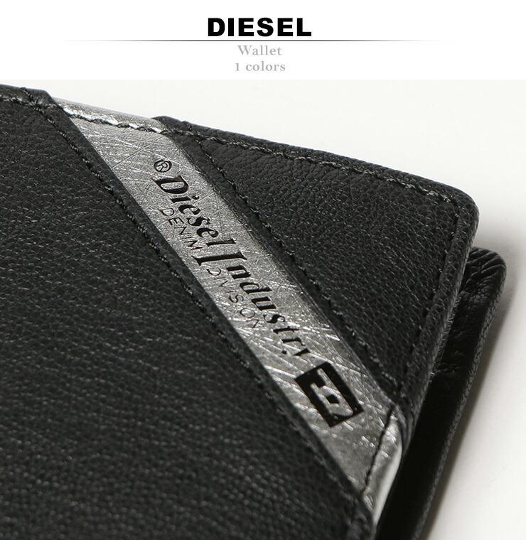 81455ea4dcfe 商 品 説 明 □ブランドDIESEL素材やぎ革100% 色【ブラック】サイズ展開【-】コメントメタリックカラーの切り替えデザインがクールな二つ折り財布 。