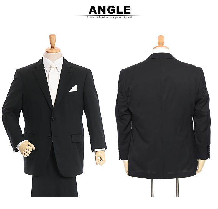 礼服 メンズ 大きいサイズ フォーマルスーツ オールシーズン ブラック 3L-8L相当・着用イメージ8・大きいサイズメンズ洋服のサカゼン