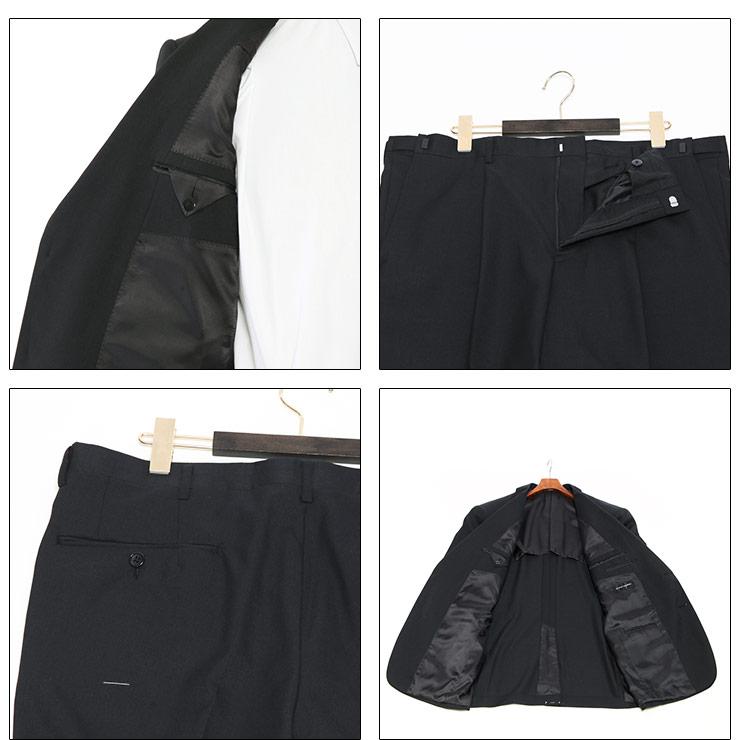 礼服 メンズ 大きいサイズ フォーマルスーツ オールシーズン ブラック 3L-8L相当・着用イメージ10・大きいサイズメンズ洋服のサカゼン