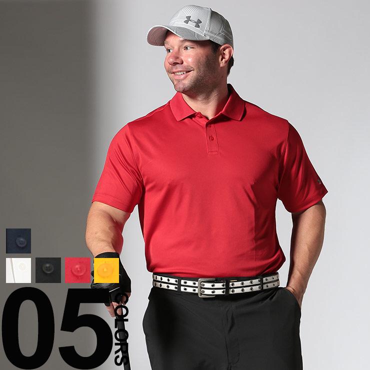 ゴルフウェア 大きいサイズ メンズ 大きいサイズのポロシャツ 半袖 heatgear LOOSE UPF50+ 袖ロゴ ゴルフ 1XL 2XL 3XL ホワイト/ブラック/レッド/イエロー/ネイビー UNDER ARMOUR アンダーアーマー|大きいサイズメンズ洋服のサカゼン