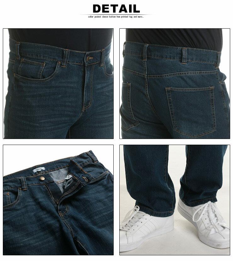 大きいサイズメンズ洋服のサカゼン:ジーンズ メンズ 大きいサイズ WEB限定 ストレッチ ジップフライ 5ポケット ジーパン デニムパンツ ブルー/ネイビー/ワンウォッシュ 100-140cm PIMLICO ピムリコ・着用イメージ11