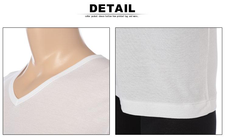 大きいサイズメンズ洋服のサカゼン:肌着 大きいサイズ Tシャツ 1分袖 メンズ 春夏対応 HYBRIDBIZ×BVD 接触冷感 綿100% Vネック アンダーシャツ 白/黒 3L-7L ビーブイディ B.V.D.・着用イメージ7