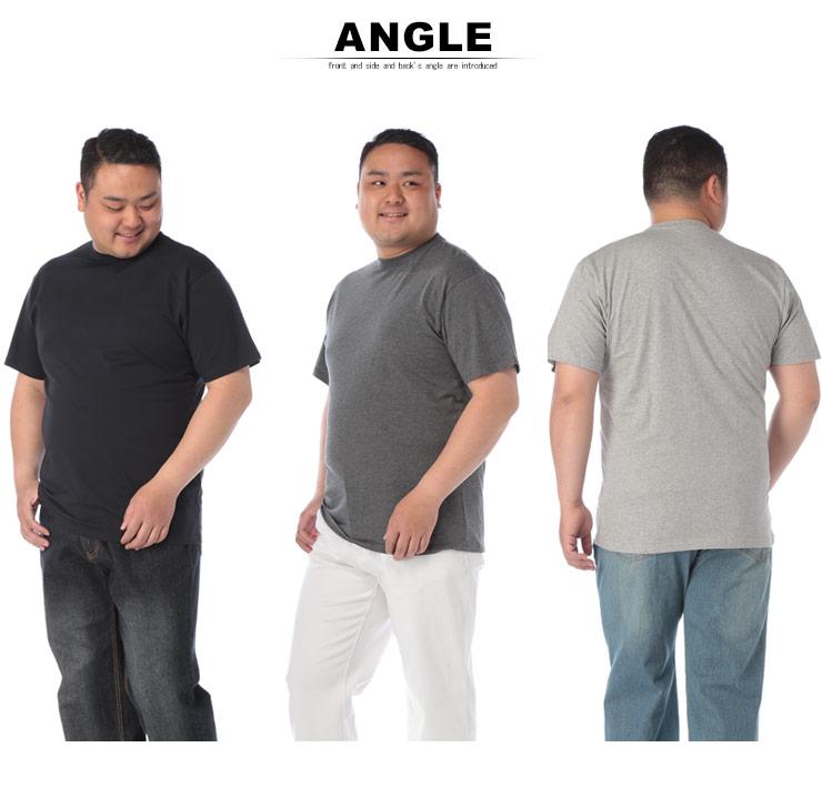 大きいサイズメンズ洋服のサカゼン:大きいサイズ メンズ 半袖Tシャツ 半袖 汗じみ防止 tシャツ 汗染み軽減 綿100% 無地 2L 3L 4L 5L 6L 7L 8L 9L 10L・着用イメージ9