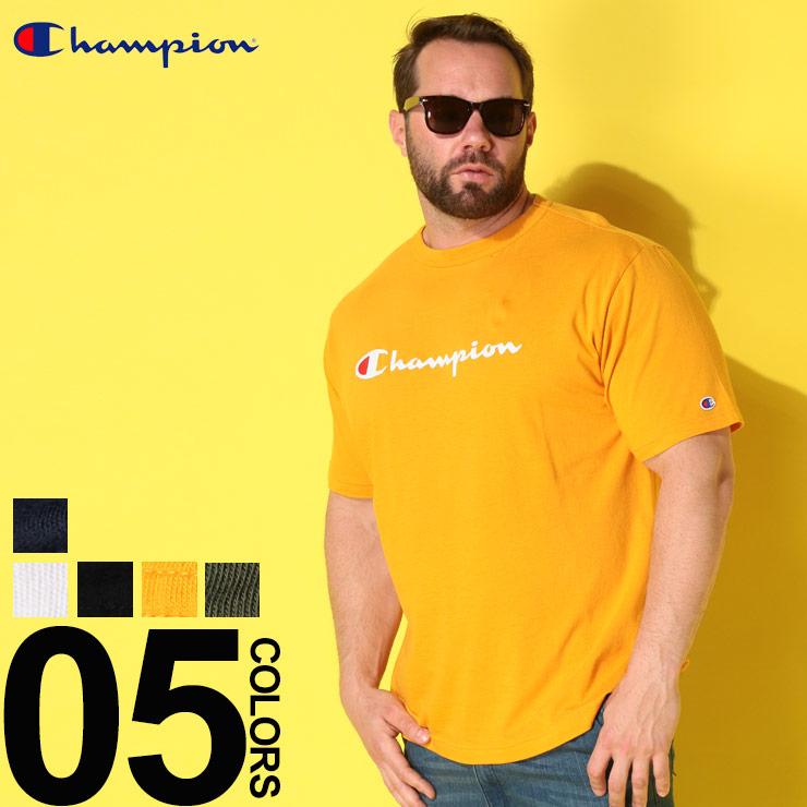 Tシャツ 半袖 大きいサイズ メンズ 綿100% スクリプトロゴ クルーネック 3L 4L 5L チャンピオン Champion