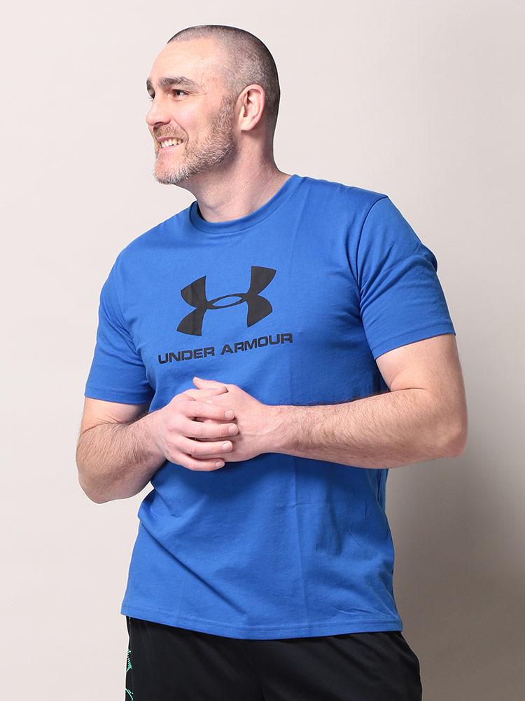 大きいサイズメンズ洋服のサカゼン Tシャツ クルー 半袖 プリントT 春 夏 スポーツ トレーニング UNDER ARMOUR(アンダーアーマー)