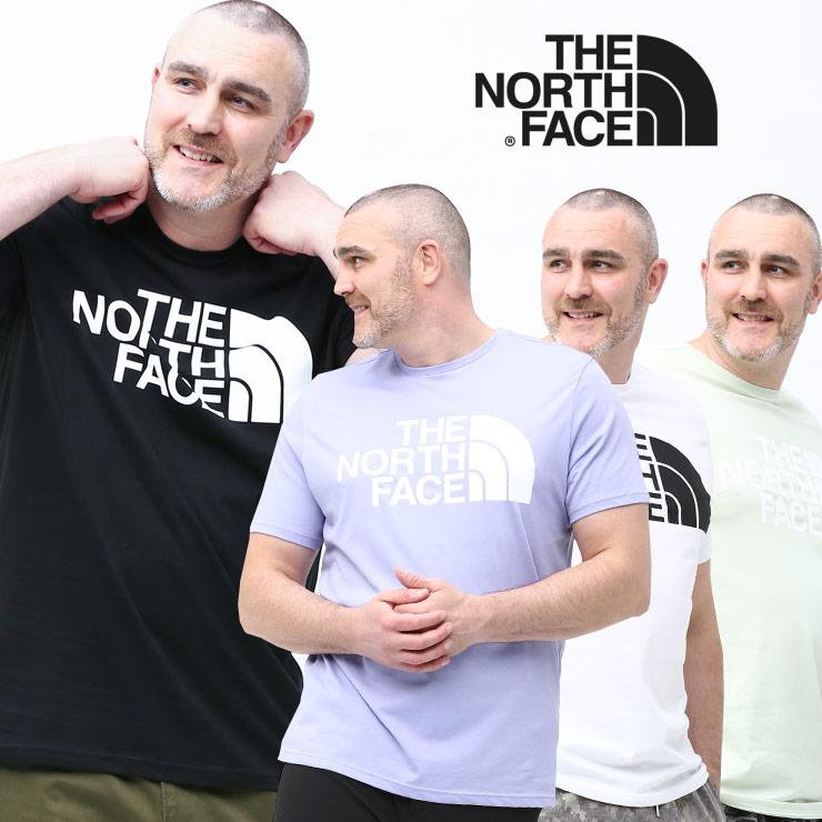 THE NORTH FACE ザ ノースフェイス 半袖 Tシャツ 大きいサイズ メンズ 綿100% クルーネック Standard SS Tee コットン ホワイト/ブラック/グリーン/パープル 1XL-2XL  サカゼン