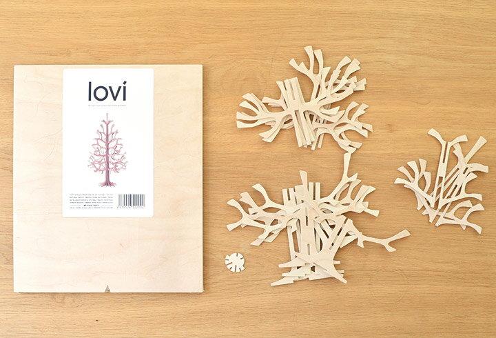 【メール便送料無料】Lovi (ロヴィ) / ミニ クリスマスツリー Momi-no-ki 25cm/ミニツリー/クリスマスツリー/クリスマス/ツリー/北欧/フィンランド/軽量/ギフト/プレゼント/白樺/