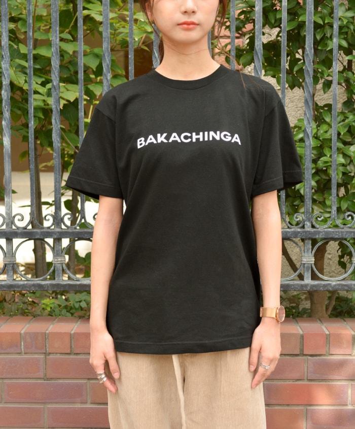 スリット ロゴ半袖Tシャツ ロゴプリントTシャツ ロゴ Tシャツ tシャツ ロゴT トップス カットソー 半袖 半そで 着丈長め