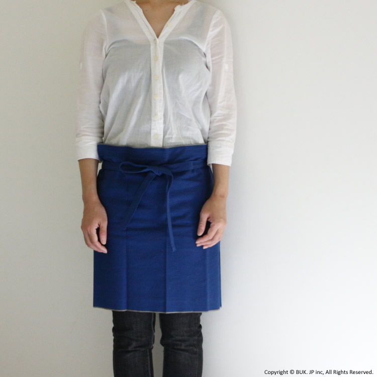 APRON short / 藍
