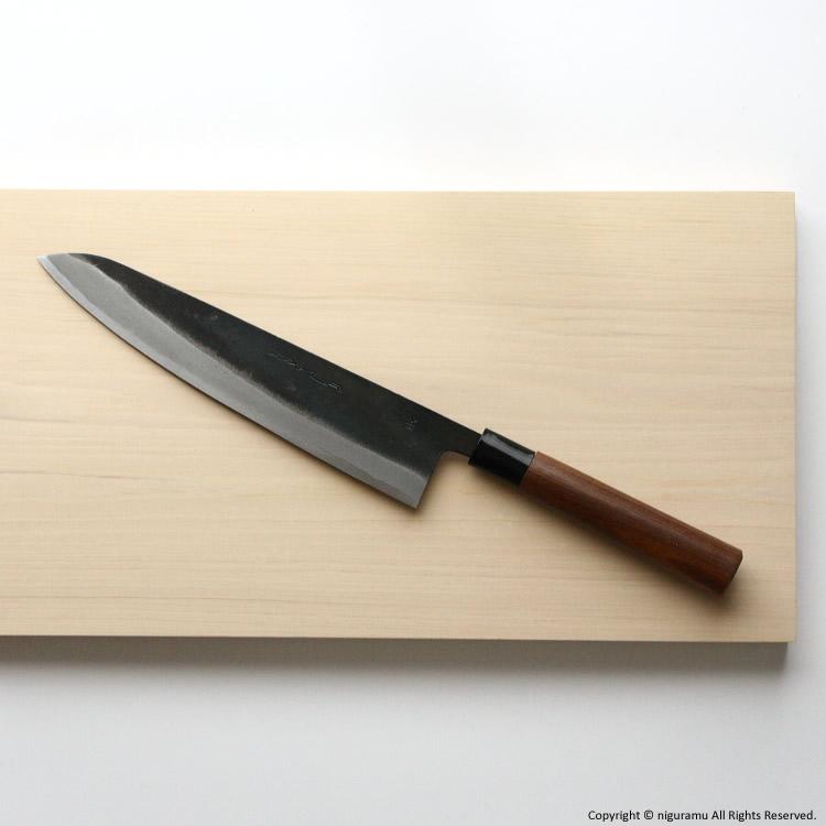 ZAKURI+niguramu 土佐打刃物 黒打包丁,青紙1号鋼