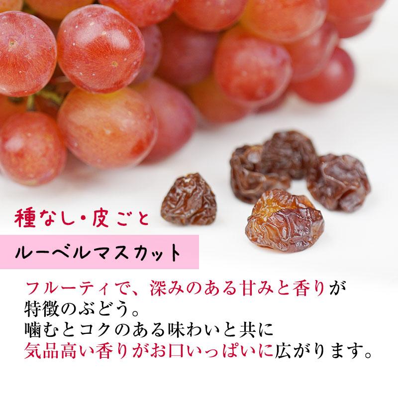 ルーベルマスカットの干しブドウ