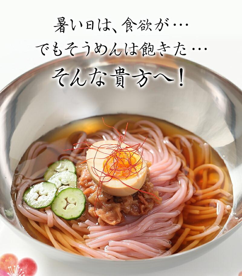 新しい夏麺!韓国風冷麺 梅冷麺