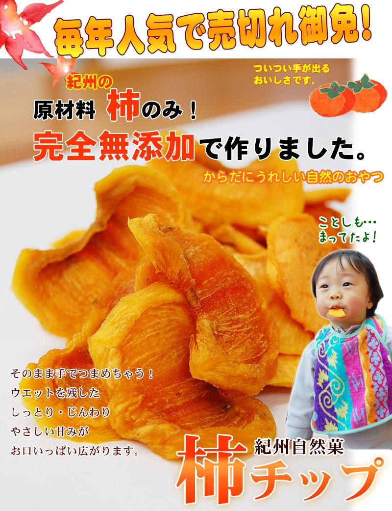 完全無添加 和歌山県産 柿チップ〜体にうれしい自然のおやつ〜