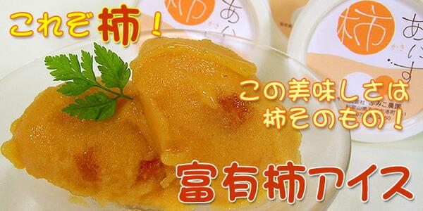 柿の甘みと美味しさがギュッ!富有柿アイス