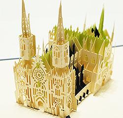 ポップアップカード セントパトリック 大聖堂 教会