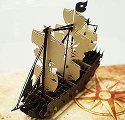 ポップアップカード 海賊船