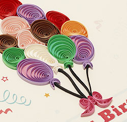 クイリングカード バースデーカード 誕生日お祝い