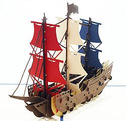 ポップアップカード 帆船