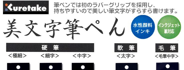 呉竹 美文字筆ペン