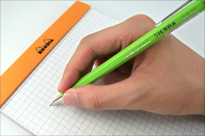 Durability feeling of a pencil adjusting to a hand
