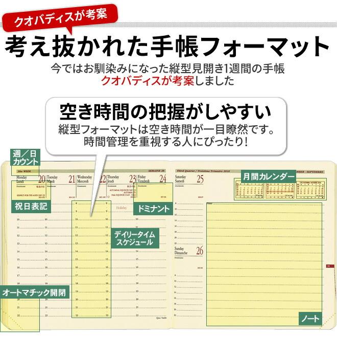 考え抜かれた手帳フォーマット