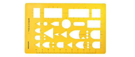 Uchida and template logic design ruler No 1