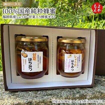100%国産純粋蜂蜜 福岡県産しょうが・甘夏入り蜂蜜ギフト