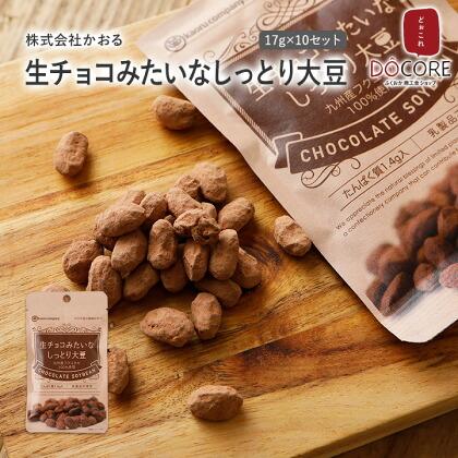 生チョコみたいなしっとり大豆 17g×10セット
