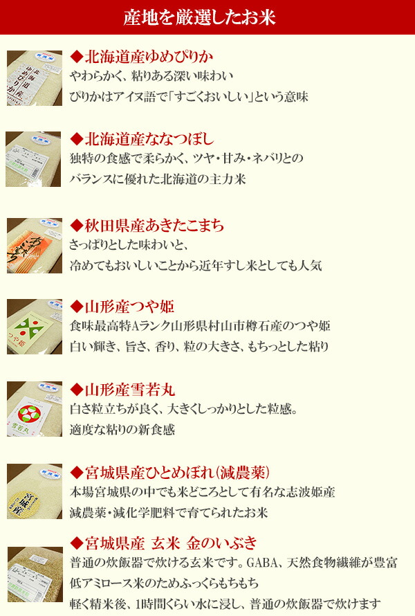 お米の特徴1