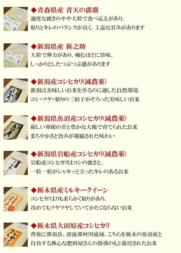 お米の特徴2