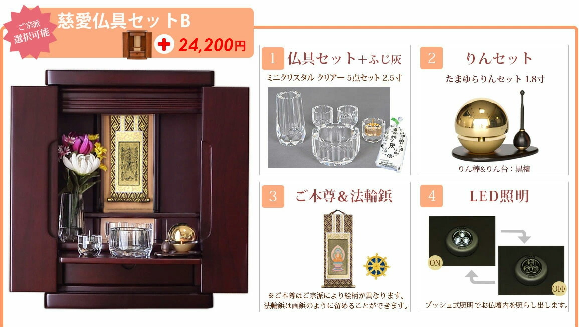 慈愛 仏具セットb +21000円