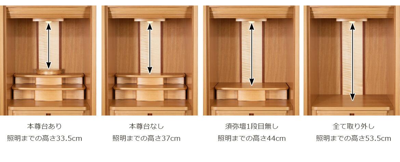 須弥壇の各高さ