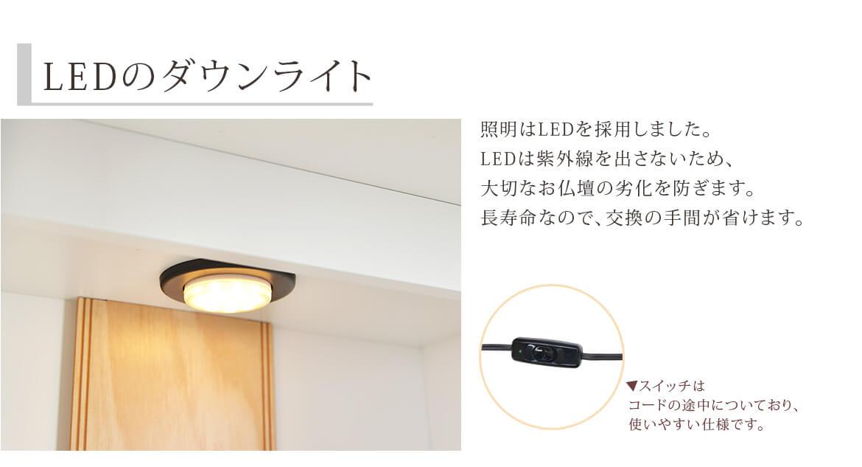 LEDのダウンライト