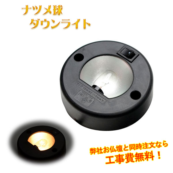 ダウンライト・ナツメ電球