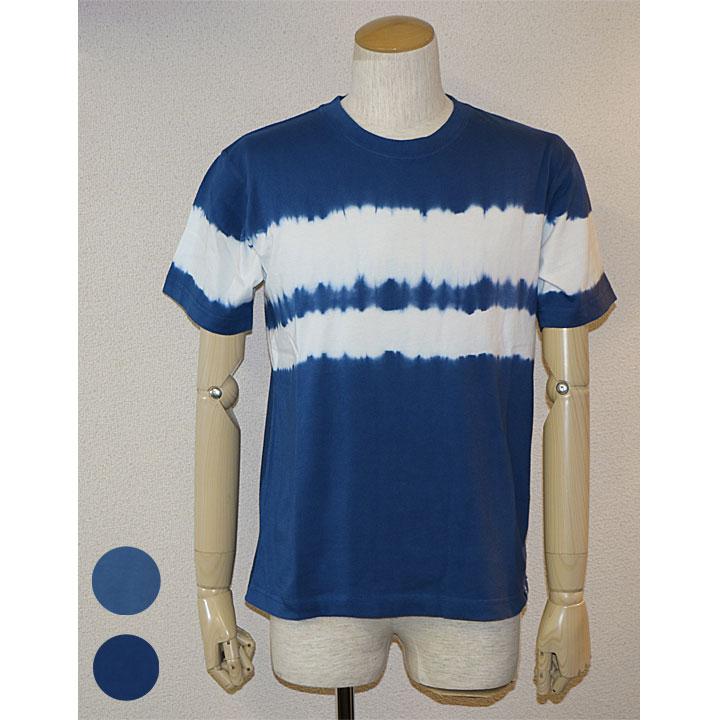 SAS(エスエーエス)タイダイパネルボーダーTシャツメンズ 2色ブルー・ネイビー