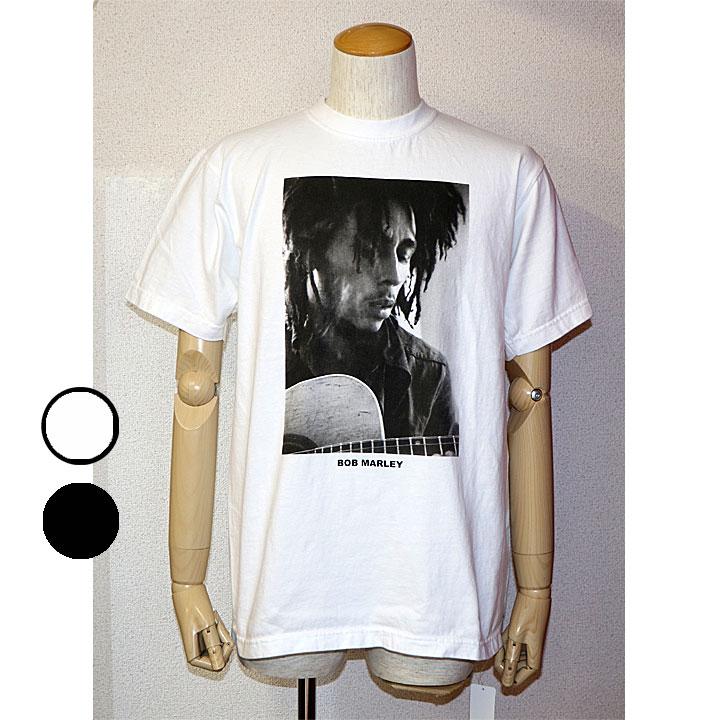 送料無料】SCREENSTARS(スクリーンスターズ)BOB MARLEYプリントTシャツZION ROOTSWEAR×SCREENSTARSコラボ半袖Tシャツ フォトTシャツ2色 ホワイト ブラック