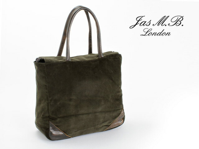 Jas M B ジャスエムビー The Is A Tote Bag Buckle Corduroy Design Was Accented X In Warm Leather