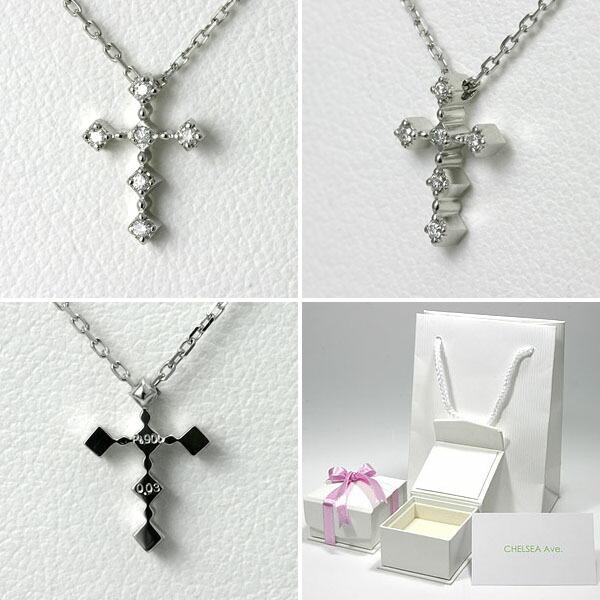ダイヤモンド クロスネックレス