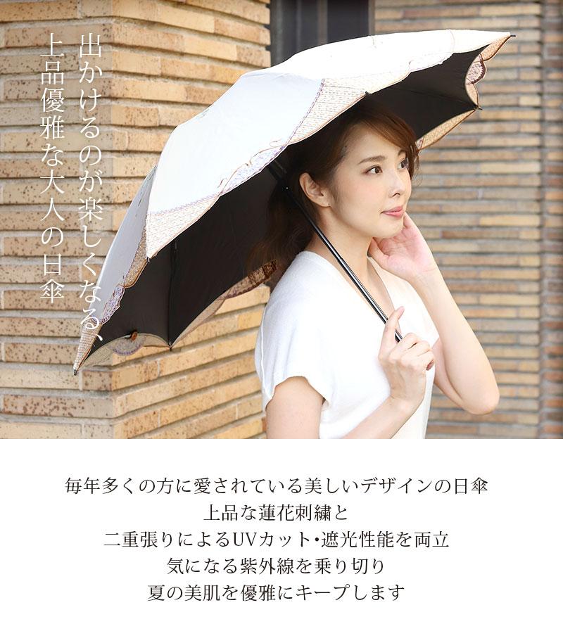 出かけるのが楽しくなる、上品優雅な大人の日傘