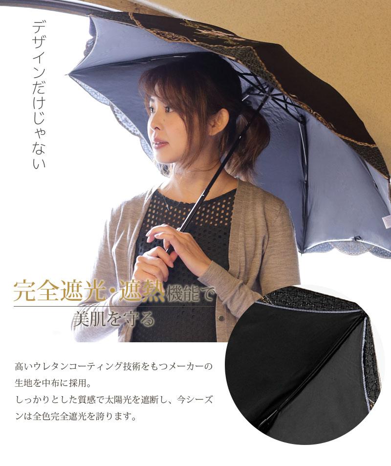 完全遮光・遮熱機能で美肌を守る