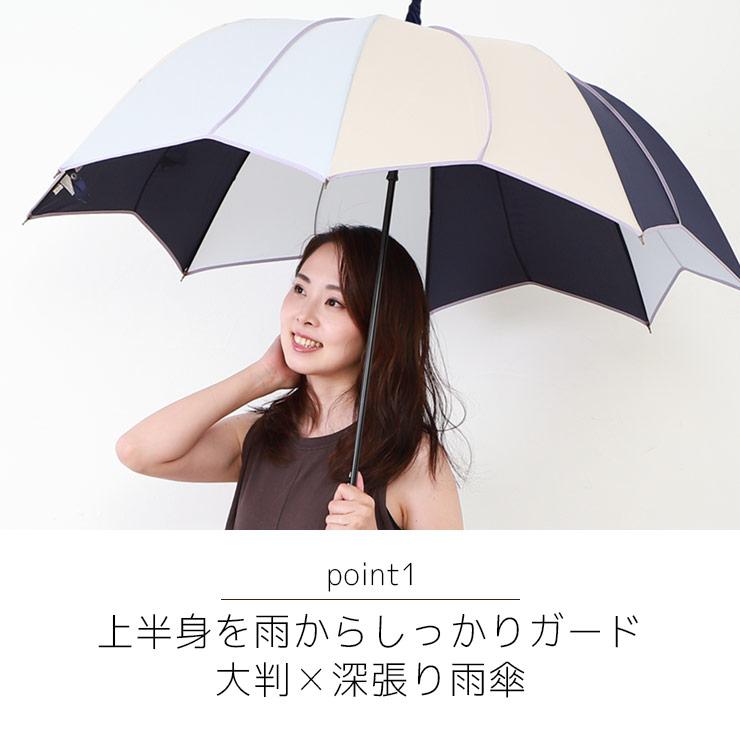 強い雨にも負けない、大判×深張り雨傘
