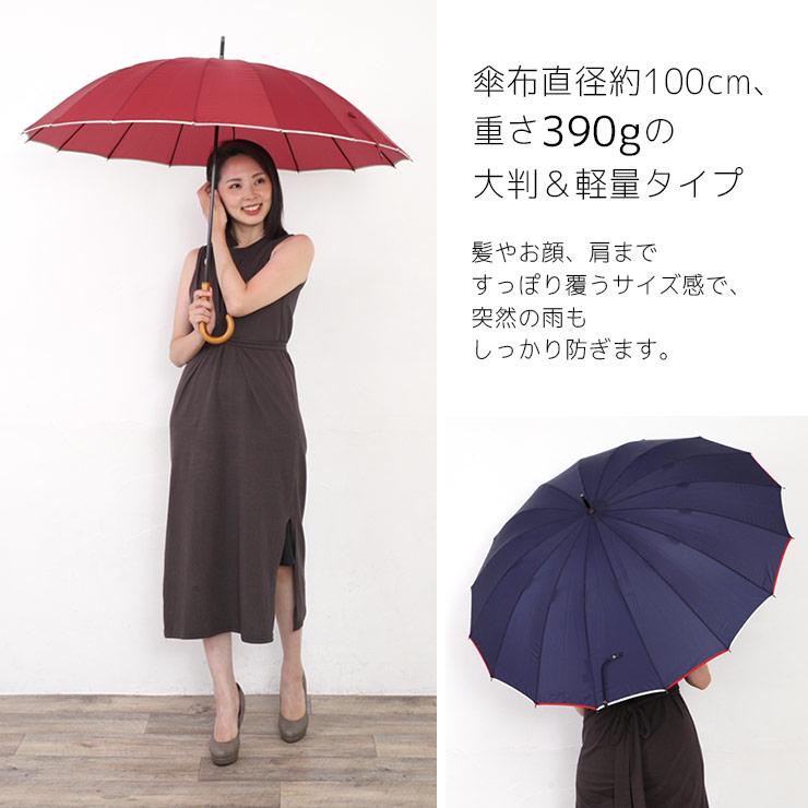 傘直径約100cm、重さ390gの大判軽量タイプ