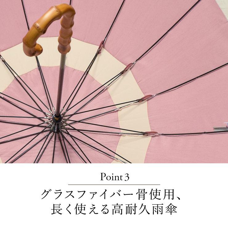 グラスファイバー骨使用、長く使える高耐久雨傘