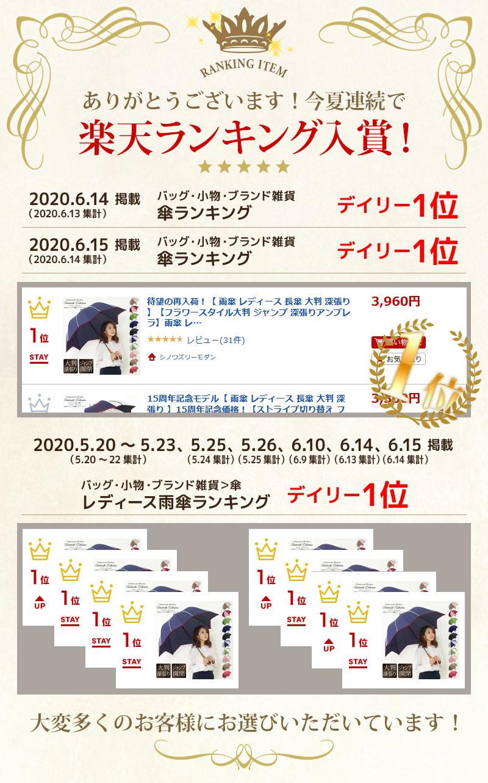 今夏連続で楽天ランキング入賞!